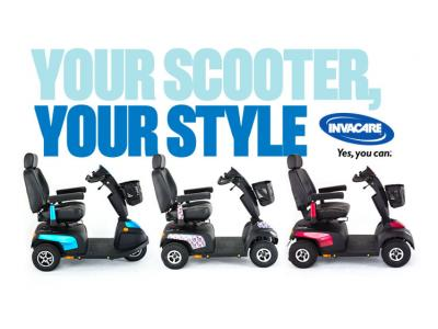 Invacare mobility scooter visualizer